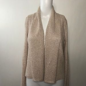 Knitted & Knotted Sparkly Long Sleeve Cardigan S